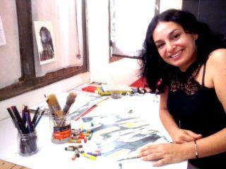 Natalí Rocha al seu taller // Carles Joan Pi