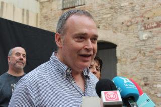 Jordi Castellvi, de Guanyem Molins, durant la roda de premsa // Jose Polo