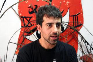 Jordi Gutièrrez, cap de Colla de Diables, durant l'entrevista // Jose Polo