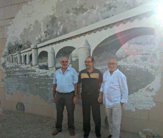 Josep Maria Pubill (a la dreta) acompanyat dels col·laboradors que l'han ajudat // David Guerrero