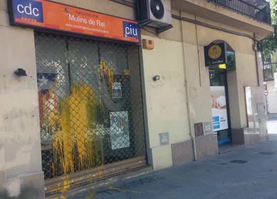 La seu de CiU Molins dijous al matí // Jose Polo