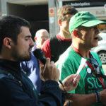 La PAH exigeix a Bankia un canvi d'actitud amb una acció a l'avinguda Barcelona