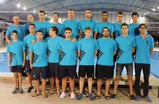 El primer equip del CN Molins de Rei durant la presentació // Jose Polo