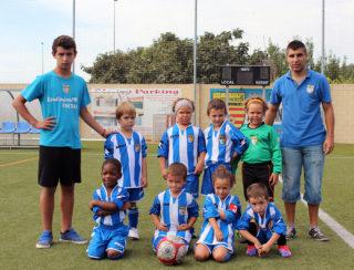 Cristian Fraile, esquerra i Ángel Barroso, dreta, amb l'equip Promeses // Jose Polo