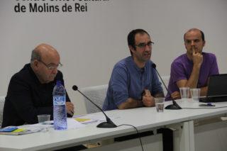 Joan Arévalo, Lluc Peláez i Jordi Colomer van explicar els casos d'Olesa, el Figaró i el Prat // Jordi Julià