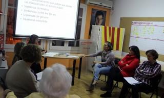 Instant de la xerrada sobre violència masclista // Jose Polo
