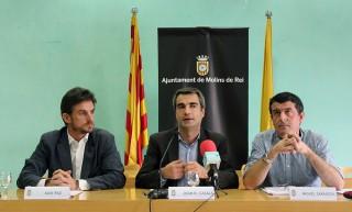 Xavi Paz, Joan Ramon Casals i Miguel Zaragoza durant la roda de premsa de presentació d'ordenances // Jose Polo