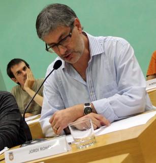 Jordi Romeu durant la seva intervenció de comiat // Jose Polo