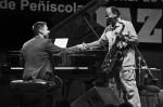 Joan Monné al costat de Benny Golson // Esteban García