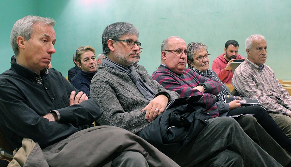 Monfort, Romeu, Clos, Margarit i Fernández a primera fila de la roda de premsa // Jose Polo