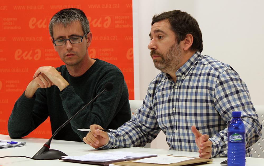 Javier Couso, a la dreta, acompanyat de Juan Pérez // Jose Polo