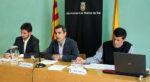 D'esquerra a dreta: Paz, Casals i Zaragoza durant la roda de premsa // Jose Polo