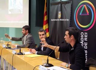 Oriol Romeu, Joan Ramon Casals i Xavi Paz durant la roda de premsa // Jose Polo