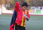 Taka, abans de començar el partit contra el Corbera del passat mes de novembre // Jose Polo