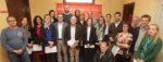 El primer tinent d'alcalde socialista, Xavi Paz (cinquè per la dreta) ha estat un dels socialistes que ha presentat el manifest // PSC Baix Llobregat