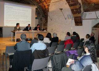 La Sala Gòtica durant la presentació pública dels pressupostos // Elisenda Colell