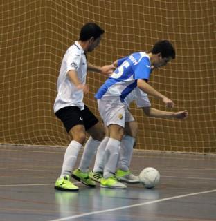 Miquel Navarro en la jugada del gol de la victòria // David Guerrero