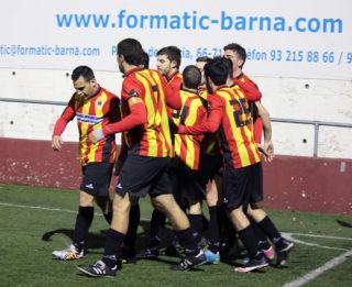 El Molins de Rei CF celebra l'esperat 1 a 0 // Jose Polo