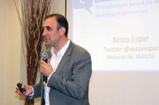 Xesco Espar en un moment de la conferència // Jose Polo