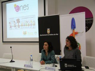 Sara Molina i Judith Pardo, sòcies-treballadores de la cooperativa Eines, van explicar la seva experiència // David Guerrero