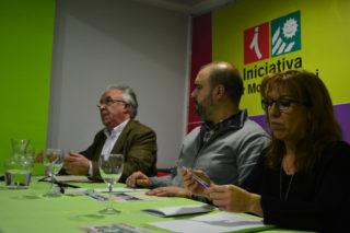 Pere Garcia, exposant el seu projecte // Elisenda Colell