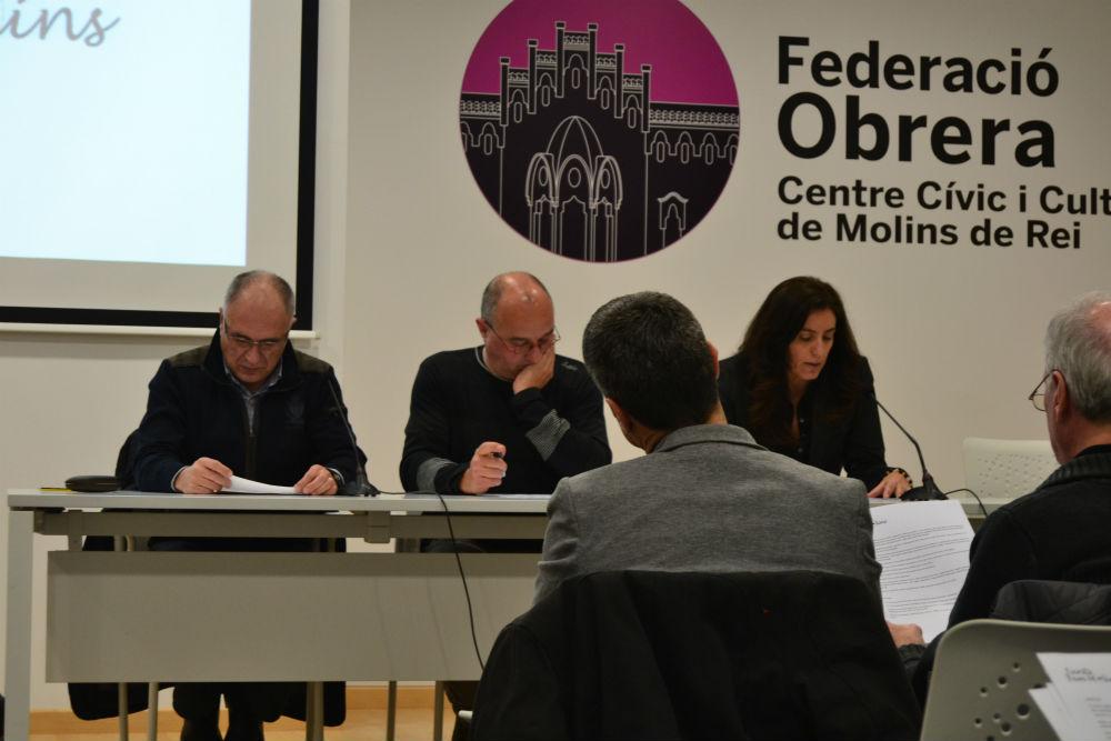 Jordi Pradell, Lluís Vinyets i Marta Munar, a la presentació de la plataforma // Elisenda ColellJordi Pradell, Lluís Vinyets i Marta Munar, a la presentació de la plataforma // Elisenda Colell
