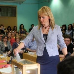 La regidora, en una votació a inicis de legislatura // ViuMolinsdeRei