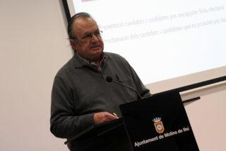 Daniel Closa al faristol de la Federació Obrera // Jose Polo