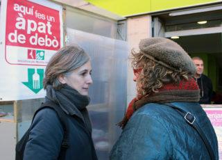 Dolors Camats conversant amb Mercè Ferrer // Jose Polo