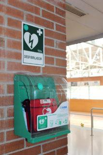 El desfibril·lador del Poliesportiu Municipal // Jose Polo