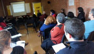 L'assemblea de la CUP es va fer a la Sala d'Actes del Poliesportiu Municipal // Jose Polo