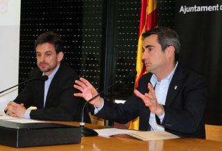 Casals (dreta) i Paz (esquerra) durant la roda de premsa de presentació del projecte // Jose Polo