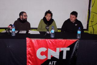 Arriaza, Obea i Monzón durant la presentació de la CNT // Jose Polo