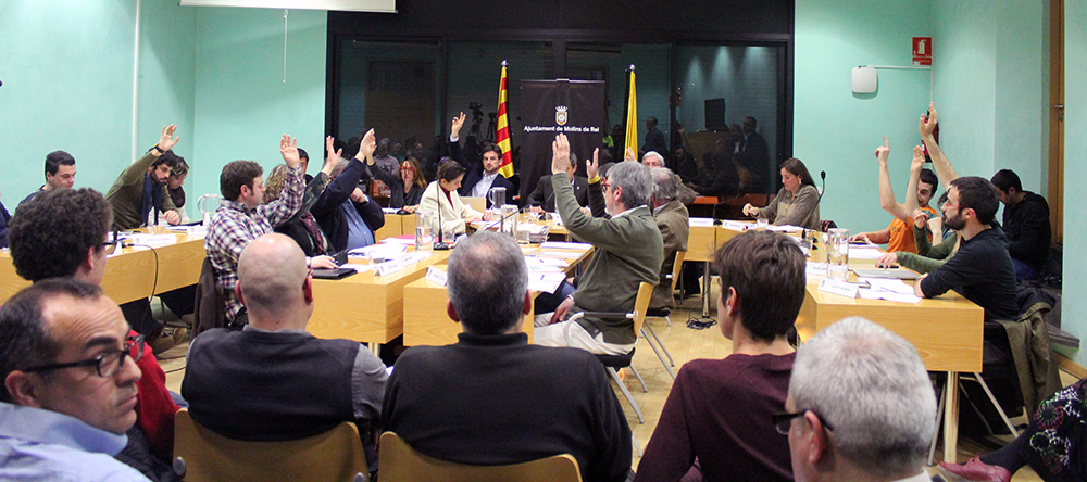 Imatge del ple municipal del mes de febrer // Jose Polo