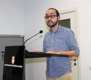 Miguel Ángel Pozo fent el seu parlament // Jose Polo