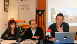 D'esquerra a dreta: Laura Soto, Ramon Sànchez i Àlex Francés durant la roda de premsa // Jose Polo