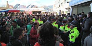 La visita d'Artur Mas ha anat acompanyada d'un cordó policial // David Guerrero