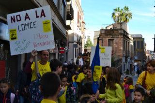 Imatges de la manifestació del passat 26 de març // Elienda Colell