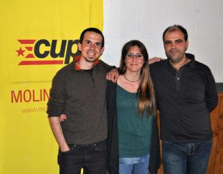 D'esquerra a dreta: Castillo, Romo i Raventós // CUP Molins de Rei
