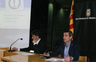 L'alcalde Casals i el primer tinent Paz durant la roda de premsa de presentació // Jose Polo