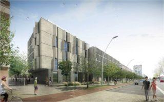 Recreació virtual del carrer Mancomunitat i part del nou barri // Ajuntament de Molins de Rei