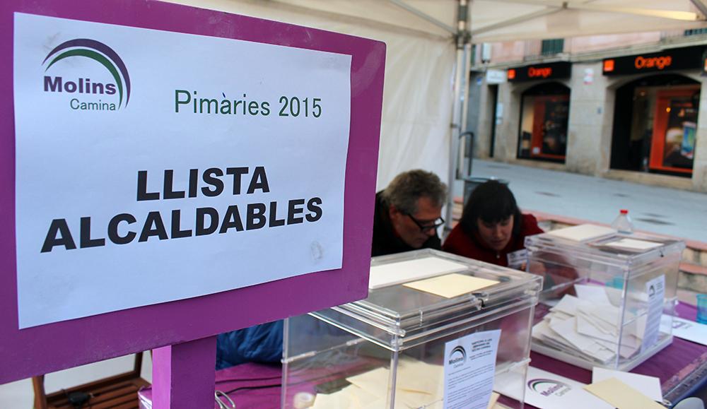 La taula de votació minuts abans de tancar // Jose Polo