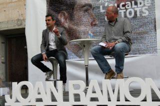 Joan Ramon Casals s'ha presentat com a candidat en un acte amb un format distès // David Guerrero