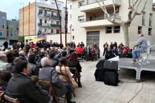 Unes 150 persones s'han aplegat al pati del Palau per assistir a la presentació de Casals com a candidat de CiU // David Guerrero