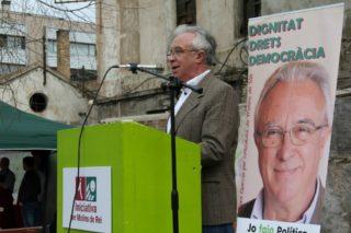 Pere Garcia ha defensat les propostes del seu programa electoral en la presentació com a candidat // David Guerrero