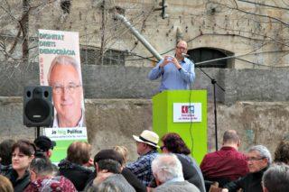 Jordi San José, alcalde de Sant Feliu, va posar la feina feta a la seva ciutat com exemple // David Guerrero
