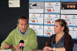 Carles Joan i Heidi Martínez en roda de premsa // Jose Polo