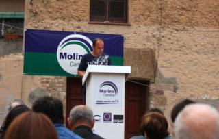 Iván Torres, número dos de Molins Camina, durant la seva intervenció // Jose Polo