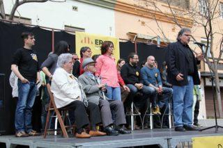 Joan Tardà durant la seva intervenció a l'acte de presentació de la llista d'ERC // David Guerrero