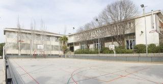 Pista esportiva del pati de l'escola Estel // Ajuntament de Molins de Rei